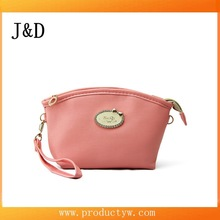 2015 New Coming Hot Design Delicate Pink PU Makeup Pouch