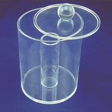 Modern design clear Acrylic dome/cylinder display stands for candy storage