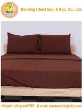 King Size Brown 4-Piece Set-Flat Sheet,Fitted Sheet,2 Pillowcase