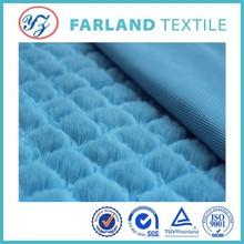 blue color pv plush fabric long pile velvet fabric for toys couples pajamas fabric