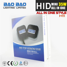 Economic Factory in China hid xenon bulb, hid xenon 35w kit, mini all in one hid lighting AC 12v 9005 BAOBAO Lighting