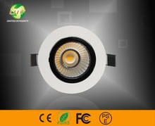 Dimmable cob LED downlight 230V warm white 2700-3200K with hole size exactly 90mm
