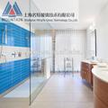 Salle de bain porte en verre dépoli, verre salle de bain, salle de bains en verre