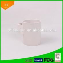 10oz created porcelain mug with pocket,special shape ceramic mug