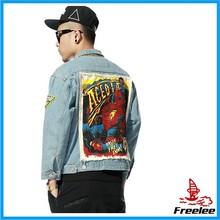 Denim Punk jacket,spiderman jacket