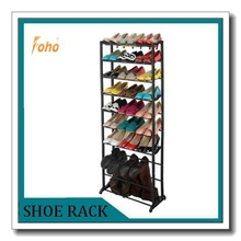 black 10 tire adjustable hallway shoe rack can hold boots FH-SR7810-4