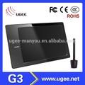 ugee g3 digital tablet de desenho da fábrica para a caixa de design de animação