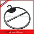 Sinicline armario accesorios negro anillo de plástico percha para la bufanda