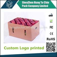 Factory cheap free sample apple cardboard box custom printed apple carton box
