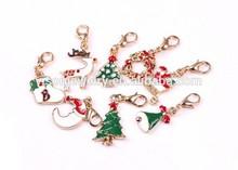 Gold Christmas Dangles Lockets Pendant Charms