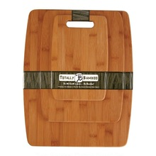 New Totally Bamboo 3-Piece Bamboo Cutting Board Set with handle up to 25% Off