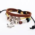 vendita calda corona fascino gioielli principessa pulseras Occidente stile cera corda braccialetto regalo nl028