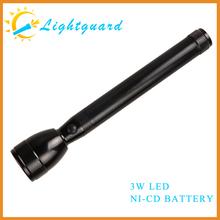 GWS-ME factory supply solar rechargeable waterproof high power super bright aluminum alloy streamlight 1000 lumen led flashlight