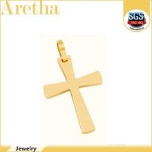elegant gold cross meaningful stainless steel pendant for sales