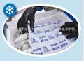 absorver a água salgada durante o transporte de marisco vivo e manter o frescor