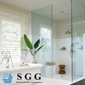 10 mm salle de douche porte verre trempé trempé verre clair et dépoli