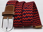 Customized Mens Woven Rope Braid Cotton Belt