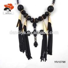 praying factory custom beaded bridal bib tassel necklace wholesale with cross