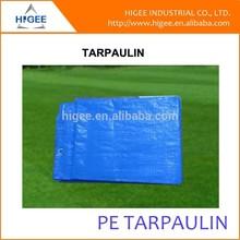 blue fire resistant tarpaulin