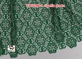 Guipure tissu africain longues manches en dentelle robe de soirée de sl10146 nigeria. vert