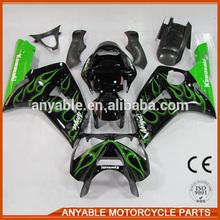 Cheap and high quality custom for kawasaki ZX6R 2003 2004 motorbike fairing