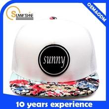 promotional custom trucker hat with white mesh