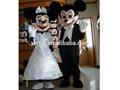 Mejor venta de Custome tamaño Mickey Minnie Mouse traje de la mascota para adultos