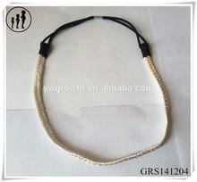 Fashion ab shine braided headband,gold chain headband for girl