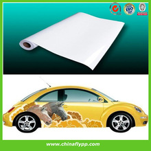 PVC self adhesive Vinyl rolls, glossy surface, compatible with solvent ink, car body sticker