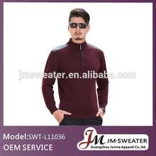 Multi-color man sweater zip design fashionable