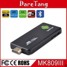 New arrival, Quad Core RK3188-A9 1.8Ghz 2GB 8GB ,mk809 iii android 4.4 mini pc