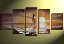 seside sexy nude photo oil painting group