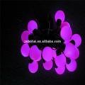el cambio de color de jardín solar led luz de la llama de la lámpara estaca camino crujido bola de cristal