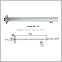 square brass bathroom accessory shower arm 35cm