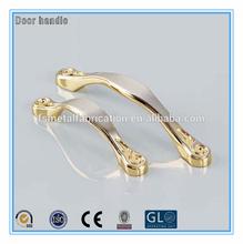 Modern golden steel classical door handle