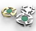 la moda de nueva personalizado de plata de jade y niños llanura hebilladelcinturón