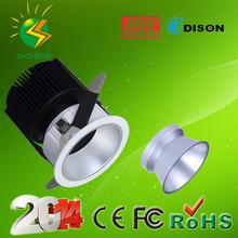different light effects downlight COB 10w down tiltable 30 degree downlight