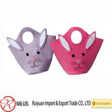 Cheap!! Lovely Bunny felt Easter bag for eggs hunt