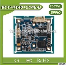 sony chipset 1/3 700tvl camera pcb assembly 811+4140 with OSD menu ccd cctv board