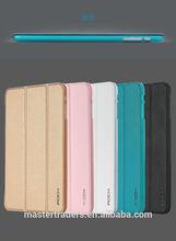 Original ROCK UNI Series Ultra Thin 3 Fold Flip Smart PU Leather Case for Apple iPad mini 3 MT-2737