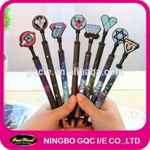 Plastic pen with rubber tip, hexagonal penholder, six angle pen holder custom design welcome