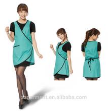 2015 ZX promocional uniforme de comida rápida supermercado uniformes diseño