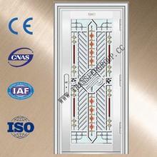 YZ-7001 steel door frame sizes/stainless steel door grill design