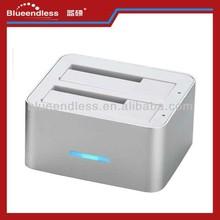 Dual/two/2bay, USB 3.0 + eSATA, HDD Docking Station,hard drive duplicator clone Good quality