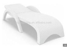 Miami Resin Wicker Chaise Lounge White Set