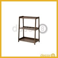 Modern Furniture Fuji Oak Solid Wood 3 Rows Book Storage Shelf