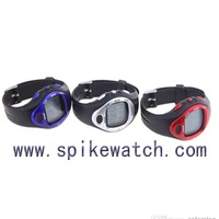 Sports runner pedometer calorie meter watch with customized logo large LCD