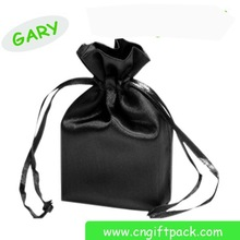 china fashion hot sale large black satin hair packaging bag wholesales