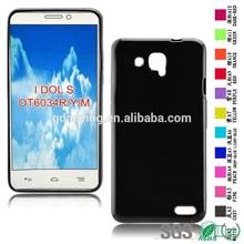 Black color cell case scrub mobile phone case for Alcatel OT6034