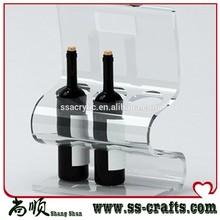 Transparent acrylic bottle cages/acrylic wine bottle holder/beer bottle holder